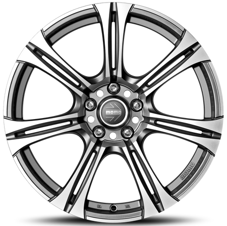 MOMO - Next Evo, 17 x 8 inch, 5x112 PCD, ET48, Matt Anthracite Polished Single Rim