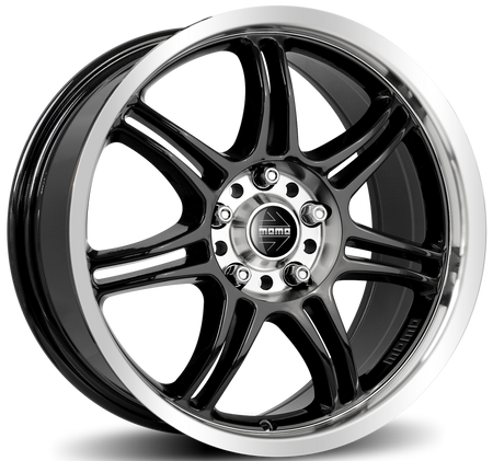 MOMO - RPM Evo, 16 x 7 inch, 5x114.3 PCD, ET45, Glossy Black Polished Single Rim