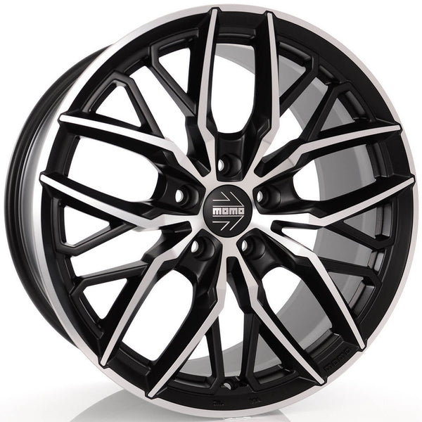 MOMO - Spider, 20 x 10 inch, 5x112 PCD, ET35, Matt Black Polished Single Rim