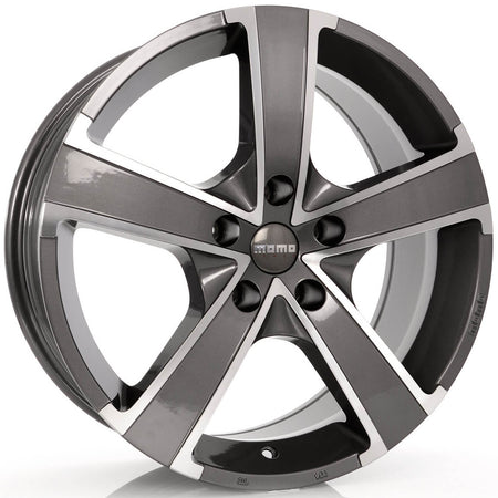 MOMO - Win Pro Evo, 16 x 6.5 inch, 5x100 PCD, ET38, Glossy Anthracite Polished Single Rim