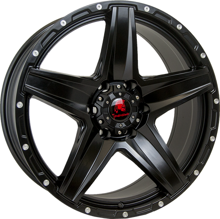 Tomahawk - Apache, 20 x 8.5 inch, 6x139.7 PCD, ET16, Satin Black Single Rim
