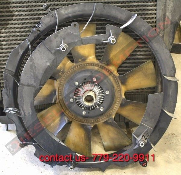 FORD 6.0 04 05 06 07 08 09 E250 E350 E450 RADIATOR FAN ASSM W SHROUD & CLUTCH FREE SHIPPING TO CONTINENTAL US ONLY
