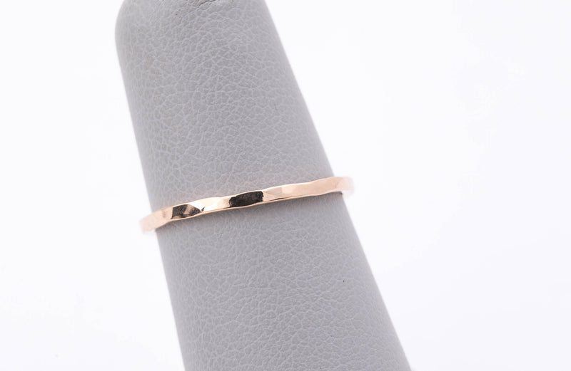 Hammered Gold Band - Recycled Gold