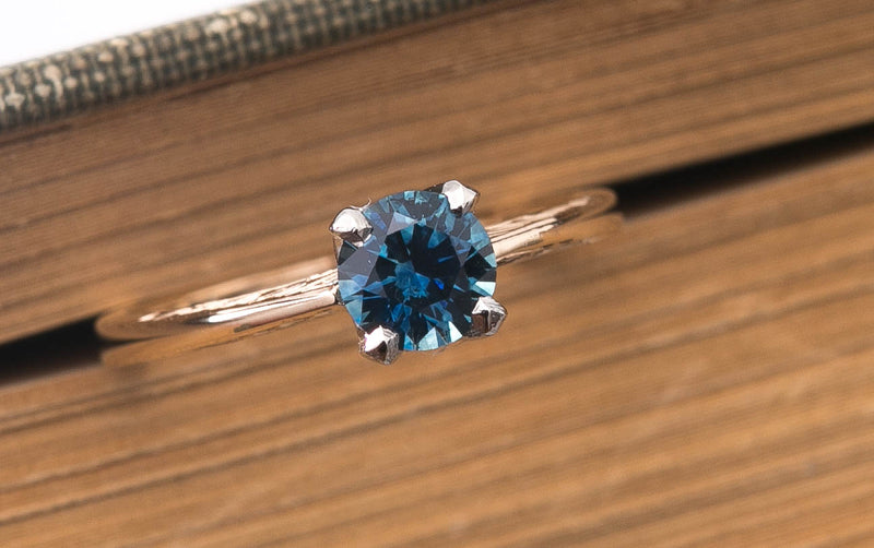 Vintage Sapphire Ring - Blue Montana Sapphire