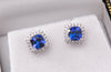 Tanzanite + Diamond Earrings