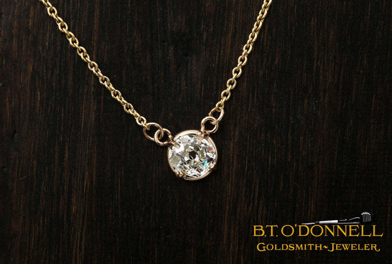 Old Cut Diamond Necklace
