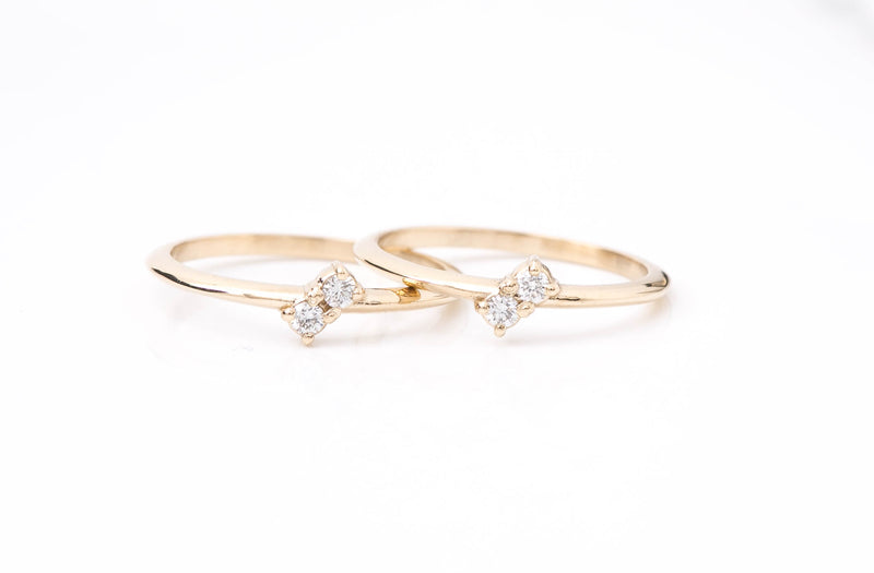 Cute Double Diamond Band