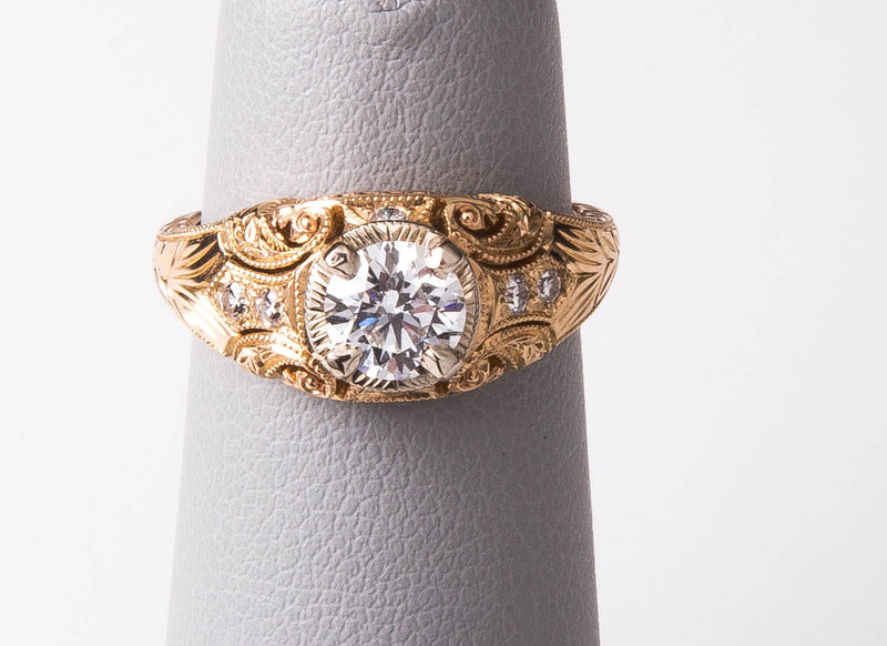 Diamond Engagement Ring 14k Yellow Gold, .61ct
