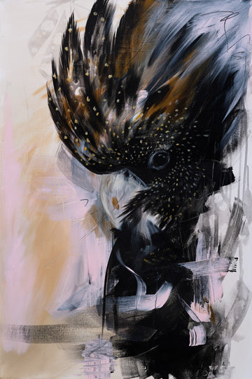 Amanda Skye Art Molly The Red Tailed Black Cockatoo Print