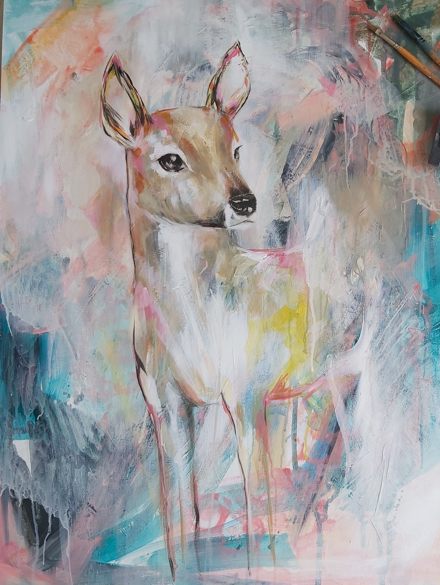 Amanda Skye Little Deer Art Print