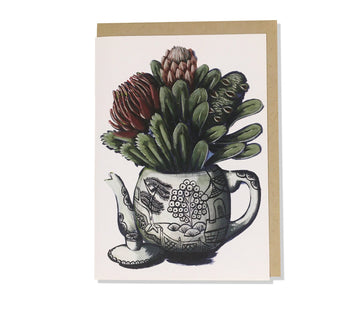 Pitok Greeting Card Teapot Bouquet