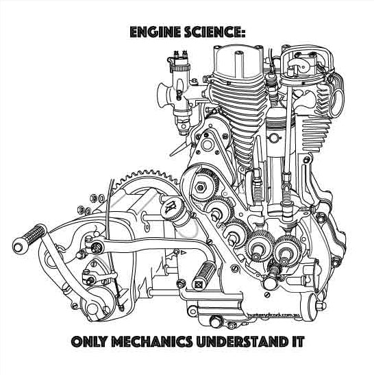 Hunters of Cool Engine Science // White