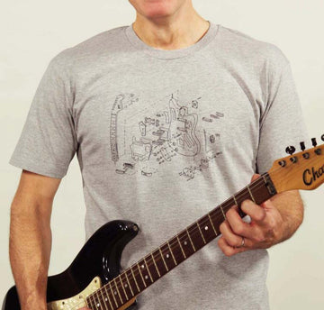 Hunters of Cool Guitar Science T-shirt // Grey