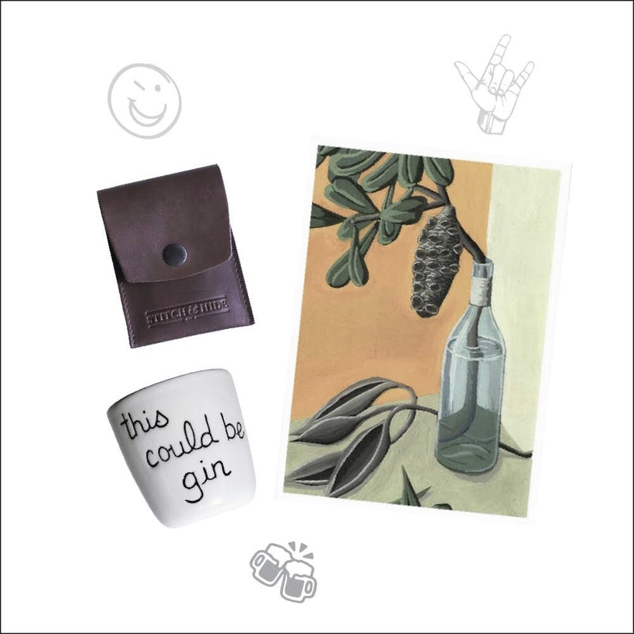 THREE'S A CHARM: ART, WALLET & CUP Gift Pack