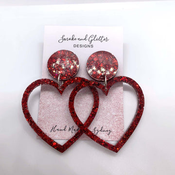 Smoke and Glitter Designs Sweethearts in Red