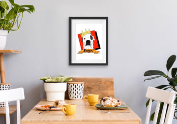 MEGA BENS DOODLES CUSTOM ART PET PORTRAIT A4 PRINT FRAMED