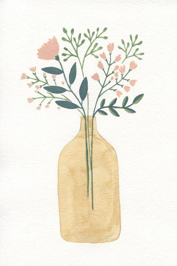 Andrina Manon Little Brown Jug Watercolour Art Print
