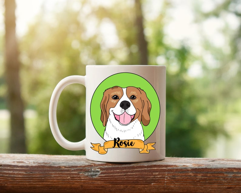 MEGA BENS DOODLES CUSTOM ART PET MUG PORTRAIT