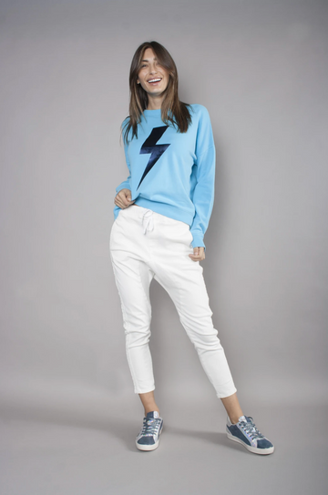 We Are The Others Bright Blue Bolt Sweater