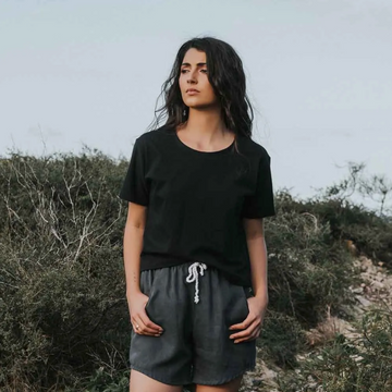 Tasi Travels Voyager Shorts in Charcoal