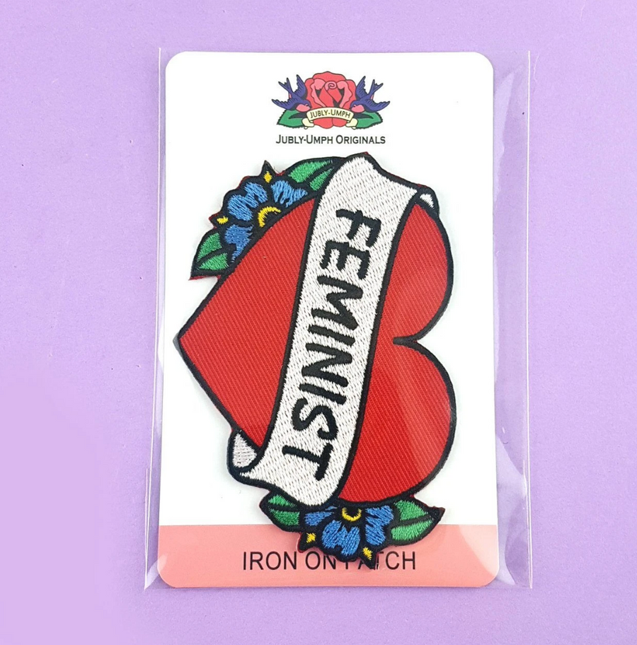 JUBLY UMPH FEMINIST HEART EMBROIDERED PATCH