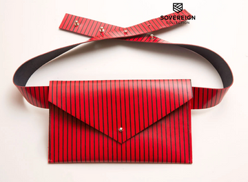 Sovereign Collection Red Stripe Belt Bag