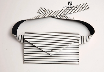 Sovereign Collection White Stripe Belt Bag
