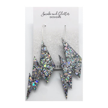Smoke and Glitter Designs Bowie Silver Bolts