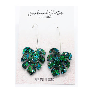 Smoke and Glitter Designs Mini Monstera Green Sparkle