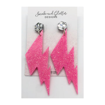 Smoke and Glitter Designs Bowie Baby Pink Bolts