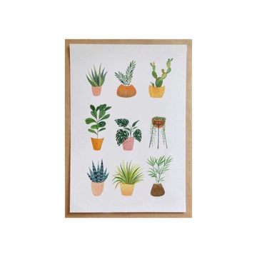 Andrina Manon Greeting Card House Plants