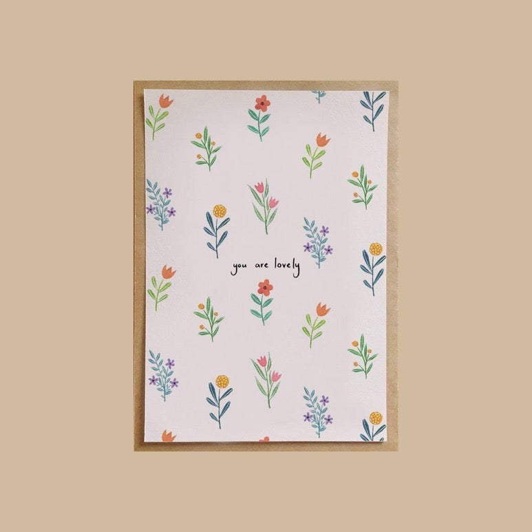 Andrina Manon Greeting Card 'You Are Lovely'