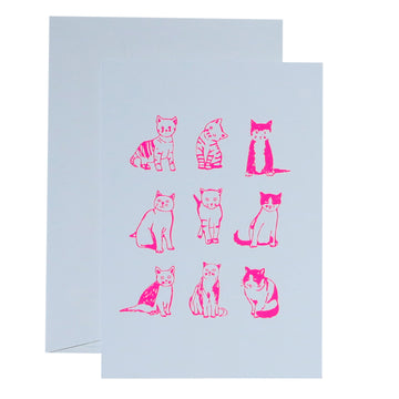 Me & Amber Greeting Card - Cats