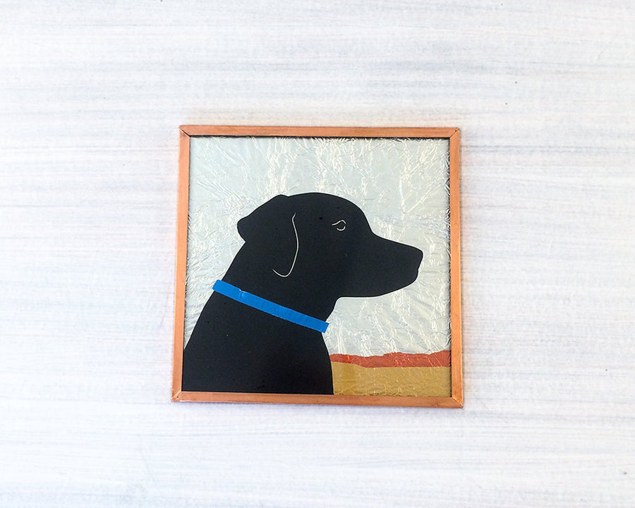 The Pickards Dog Portrait Glass Art Tiles