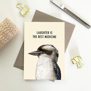 My Lovely Pets Greeting Card - Laughter is The Best Medicine