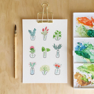 Andrina Manon Little Blooms Watercolour Art Print