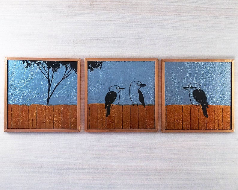 The Pickards Kookas Series Glass Art Tiles