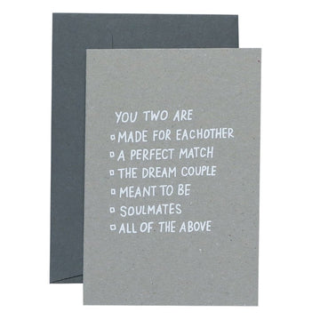Me & Amber Greeting Card - Multiple Choice Couple