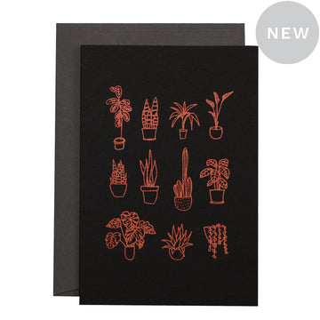 Me & Amber Greeting Card - Pot Plants