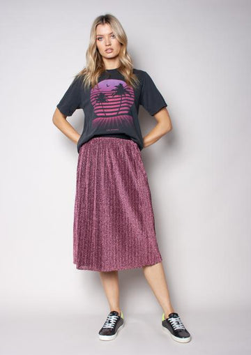 We Are The Others Sunray Skirt - Metallic Rose