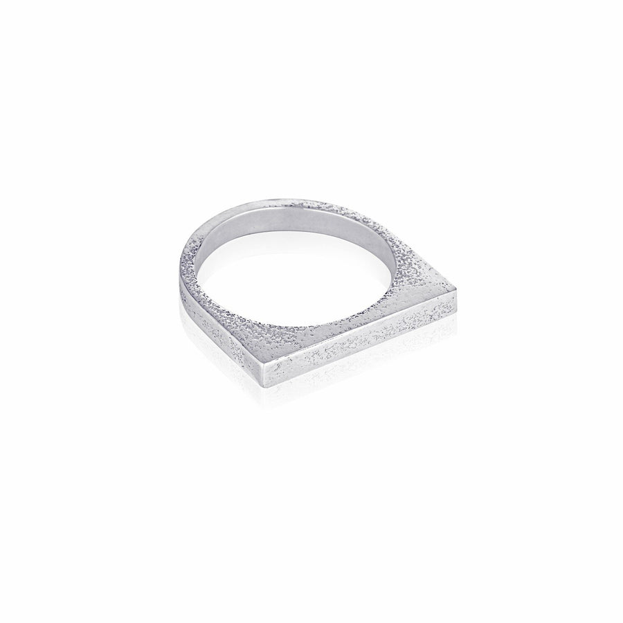 Svikis. Square Stacker Silver Ring Combo