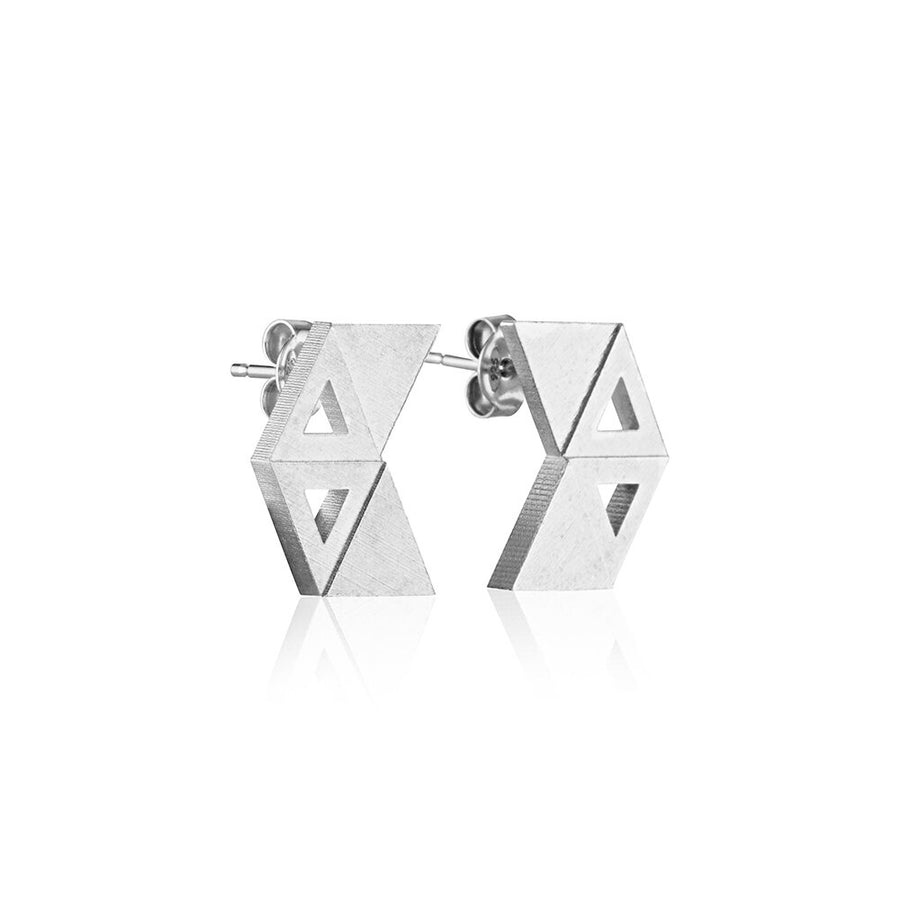 Svikis. Triangle Stack Earrings // Sterling Silver