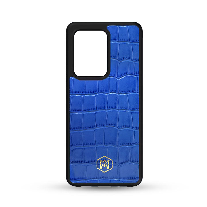 Samsung Galaxy S20 Ultra Cover in Embossed Crocodile Leather