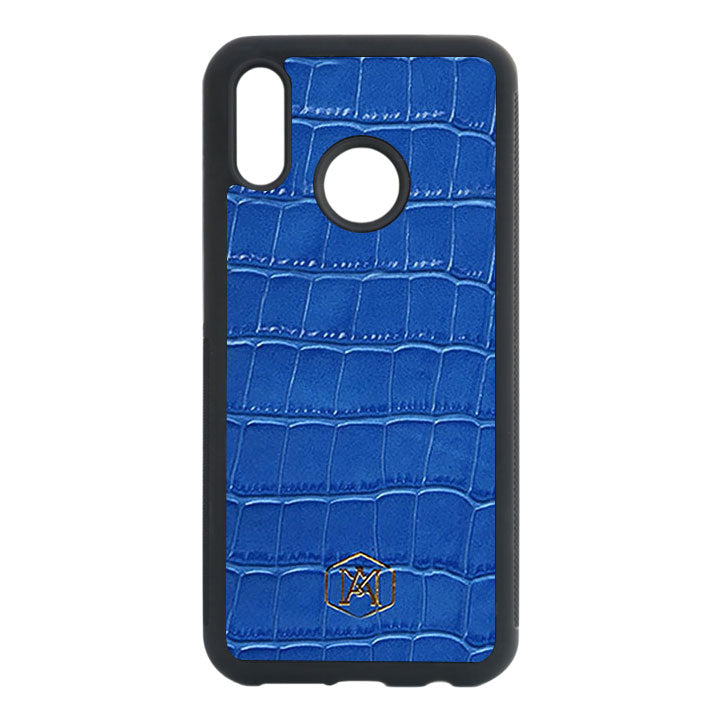 Huawei P20 Lite case in Embossed Crocodile Leather