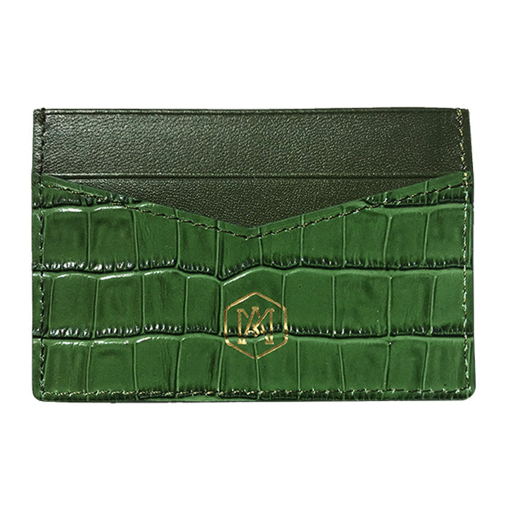 Card Holder in Crocodile Leather