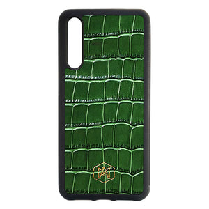 Huawei P20 Pro Cover in Embossed Crocodile Leather