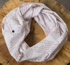 infinity pocket-scarf: cranberry flock