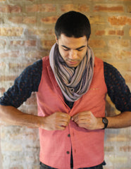 "Original ishi vest in ""Salmon"" (Small)"