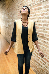 "Women's tunic-vest in ""Apricot Bliss"""