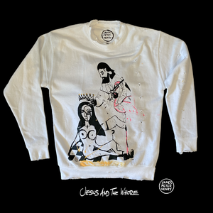 Hand painted 1 of 1 sweater featuring original artwork